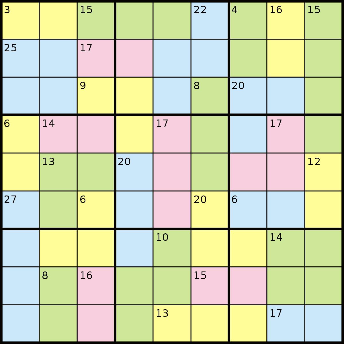 Killer Sudoku - Wikipedia dedans Comment Jouer Sudoku