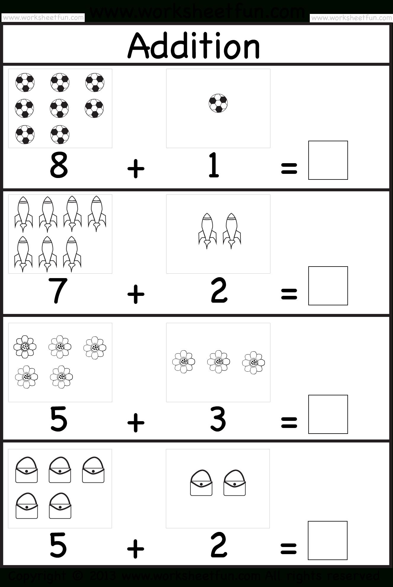 Kindergarten Addition | Birinci Sınıf Matematiği serapportantà Addition Maternelle