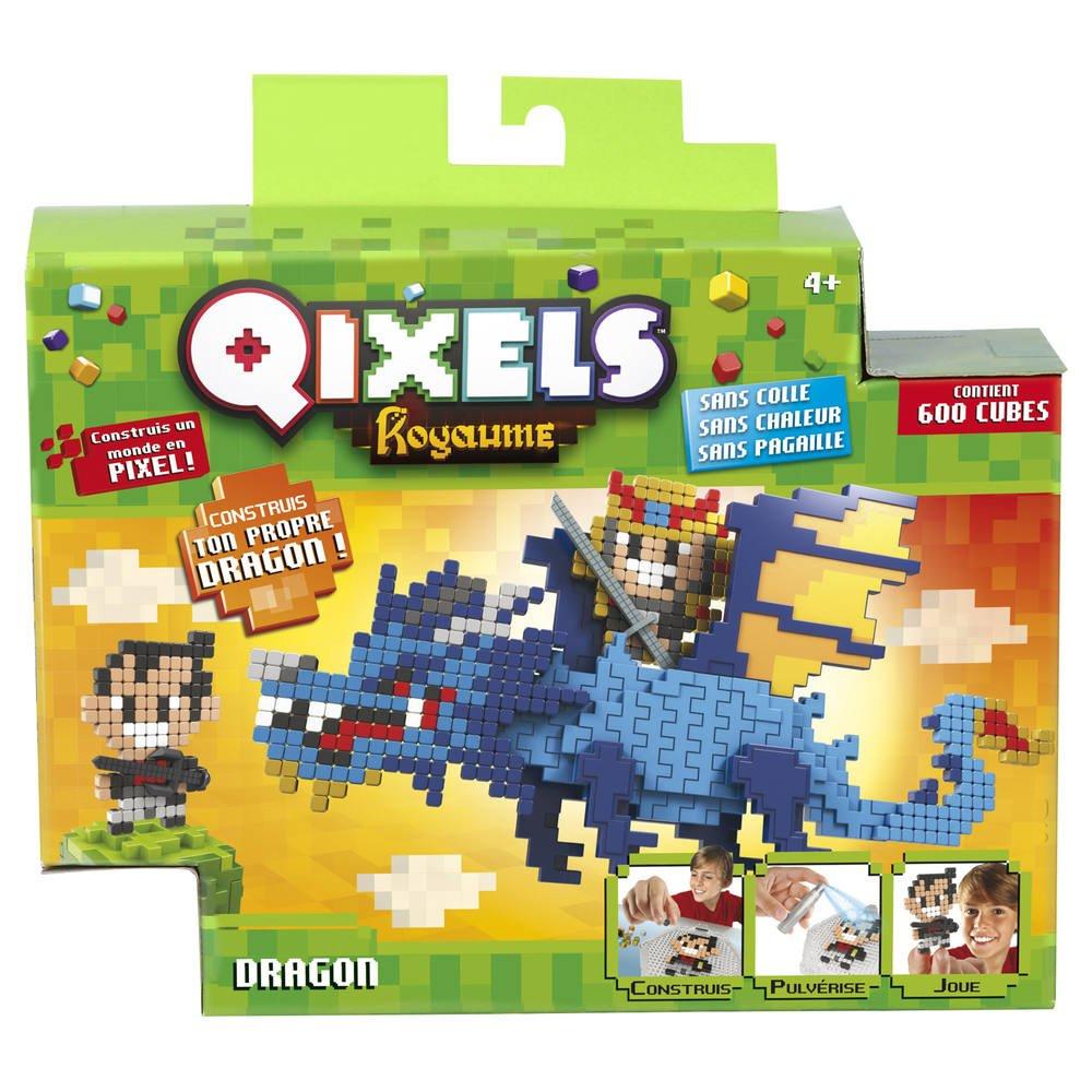 Kit De Creation Qixels Royaume Theme Dragon serapportantà Pixel Jouet