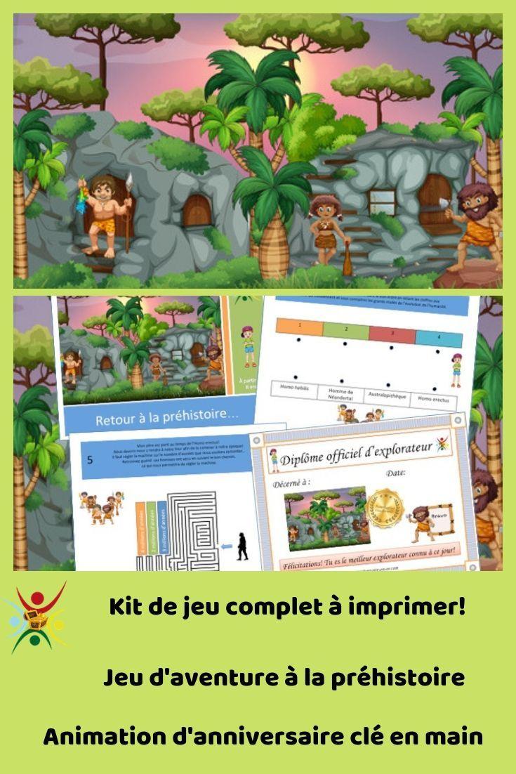 Kit De Jeu Complet À Imprimer Sur Le Thème De La Préhistoire encequiconcerne Jeux De Préhistoire
