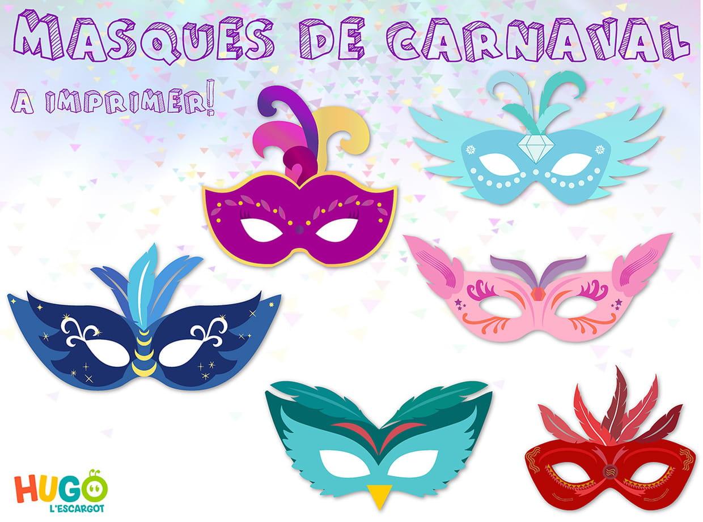 Kit Masques De Carnaval À Imprimer pour Masque Maternelle