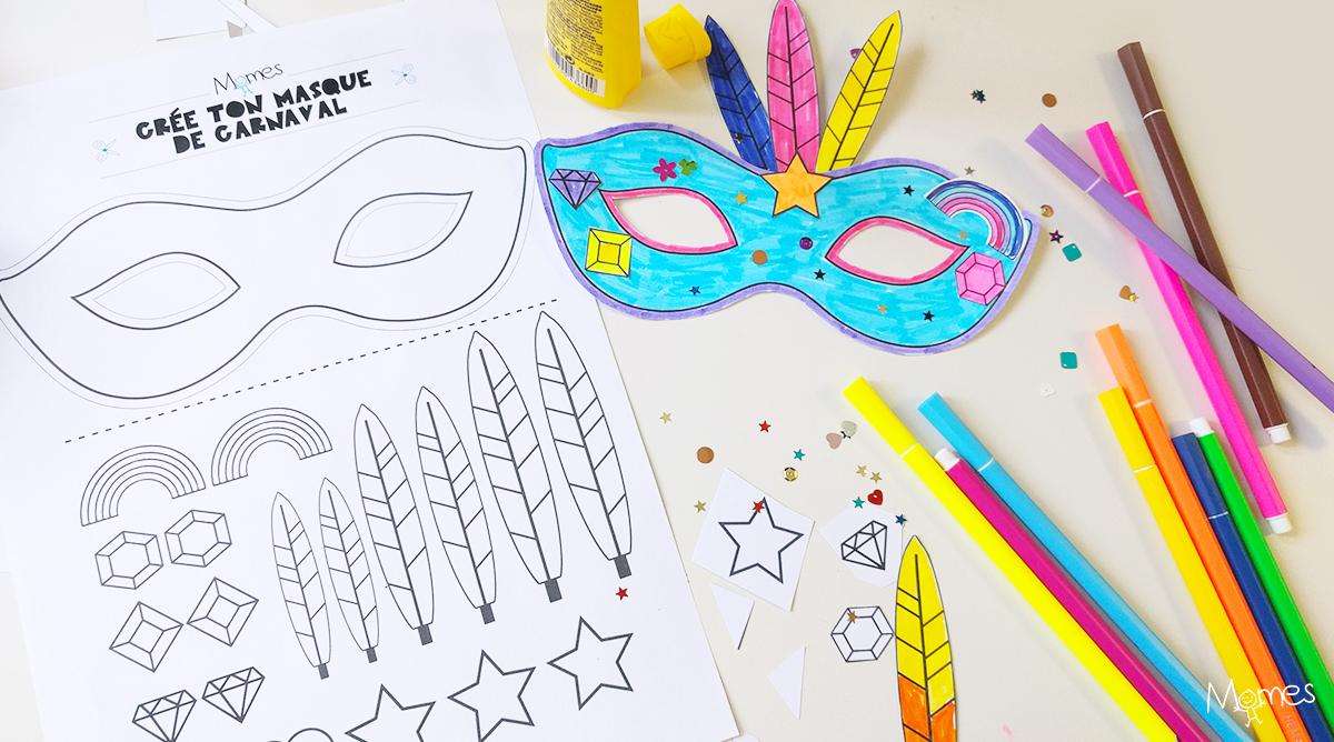 Kit Pour Faire Un Masque De Carnaval - Momes avec Masque Maternelle