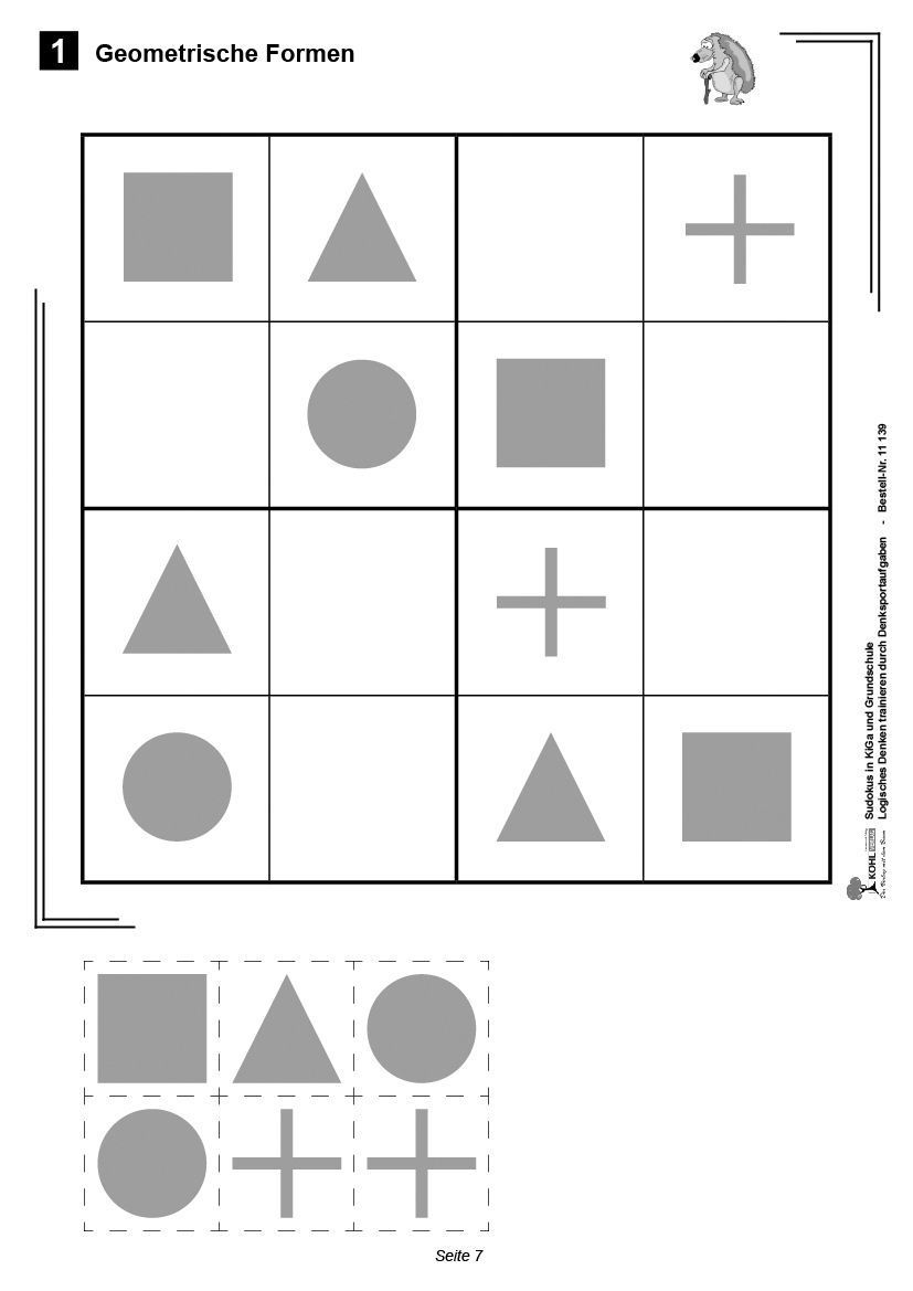 Kohl-Verlag - Sudokus Entdeckenin Kindergarten Und serapportantà Sudoku Grande Section