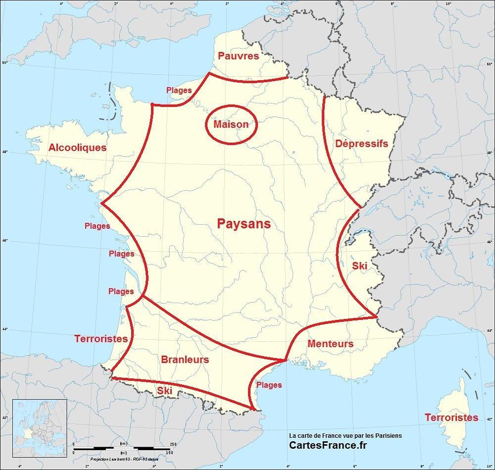 """Korsikalı Hıdır در توییتر """"parisli Bakış Açısıyla Fransa concernant Image De La Carte De France"""