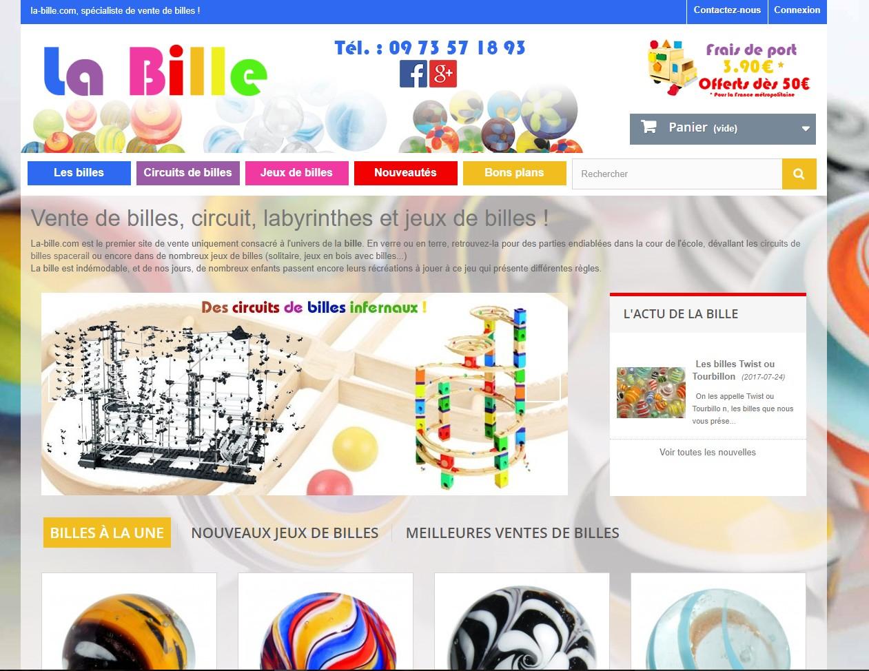 La Bille - Les Boutiques Du Net avec Jeux De Billes En Ligne
