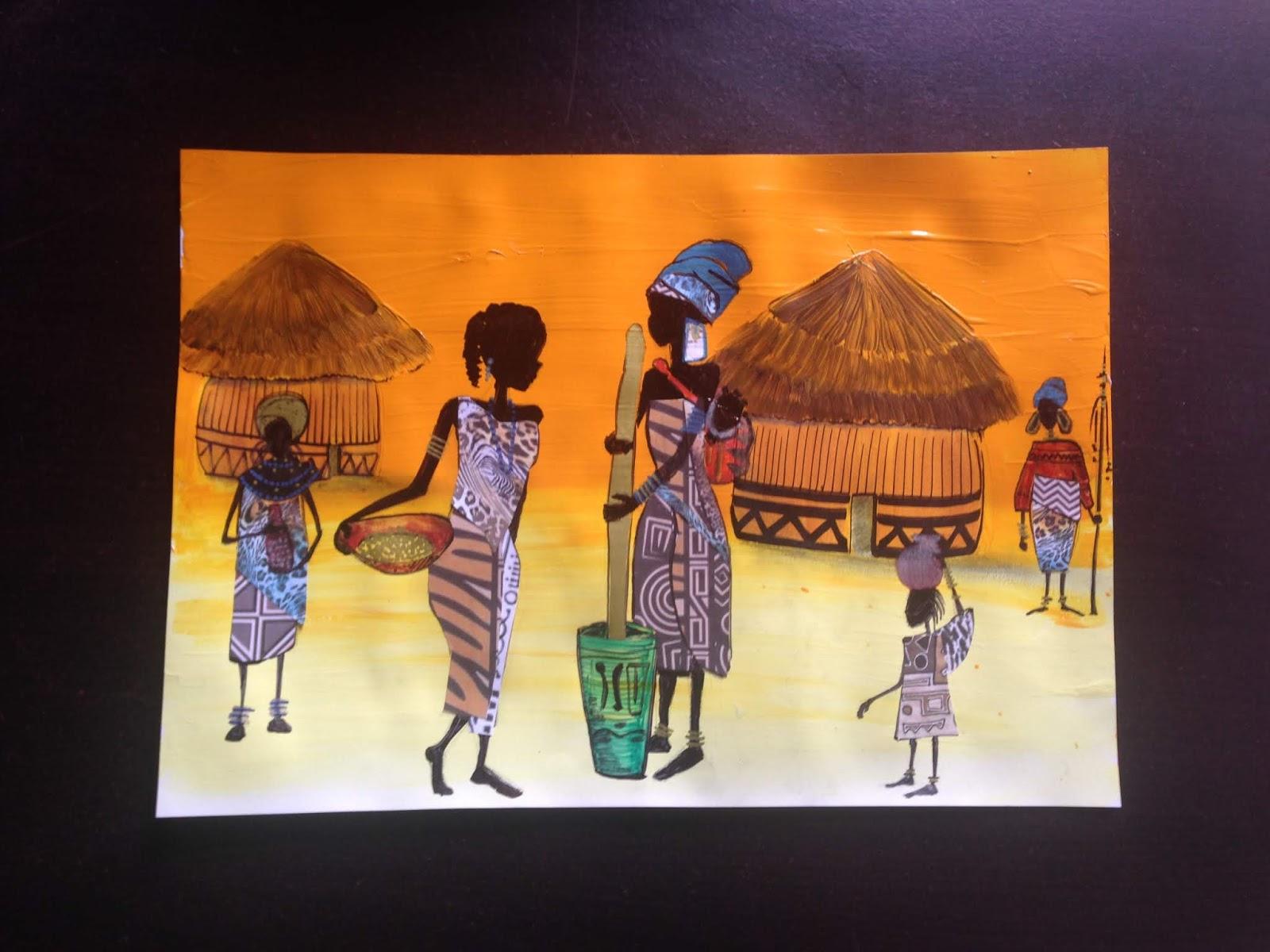 La Boite À Idées De L' Atelier 3B* * *: Mon Village Africain destiné Activité Manuelle Afrique