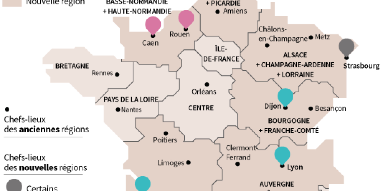 La Carte À 13 Régions Définitivement Adoptée destiné Carte Des 22 Régions
