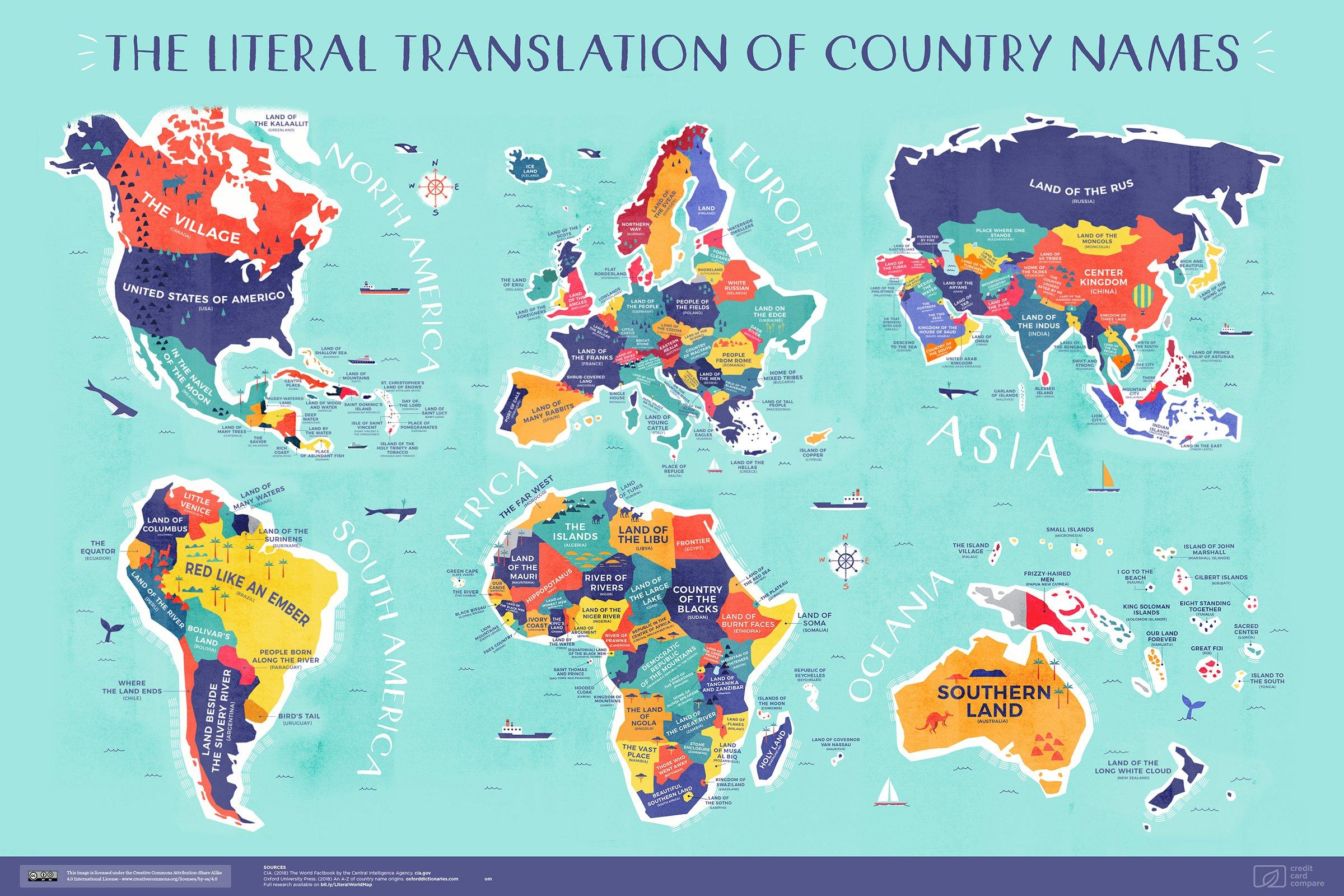 La Carte Du Monde Reprenant La Vraie Signification Des Noms dedans Carte Du Monde Avec Continent