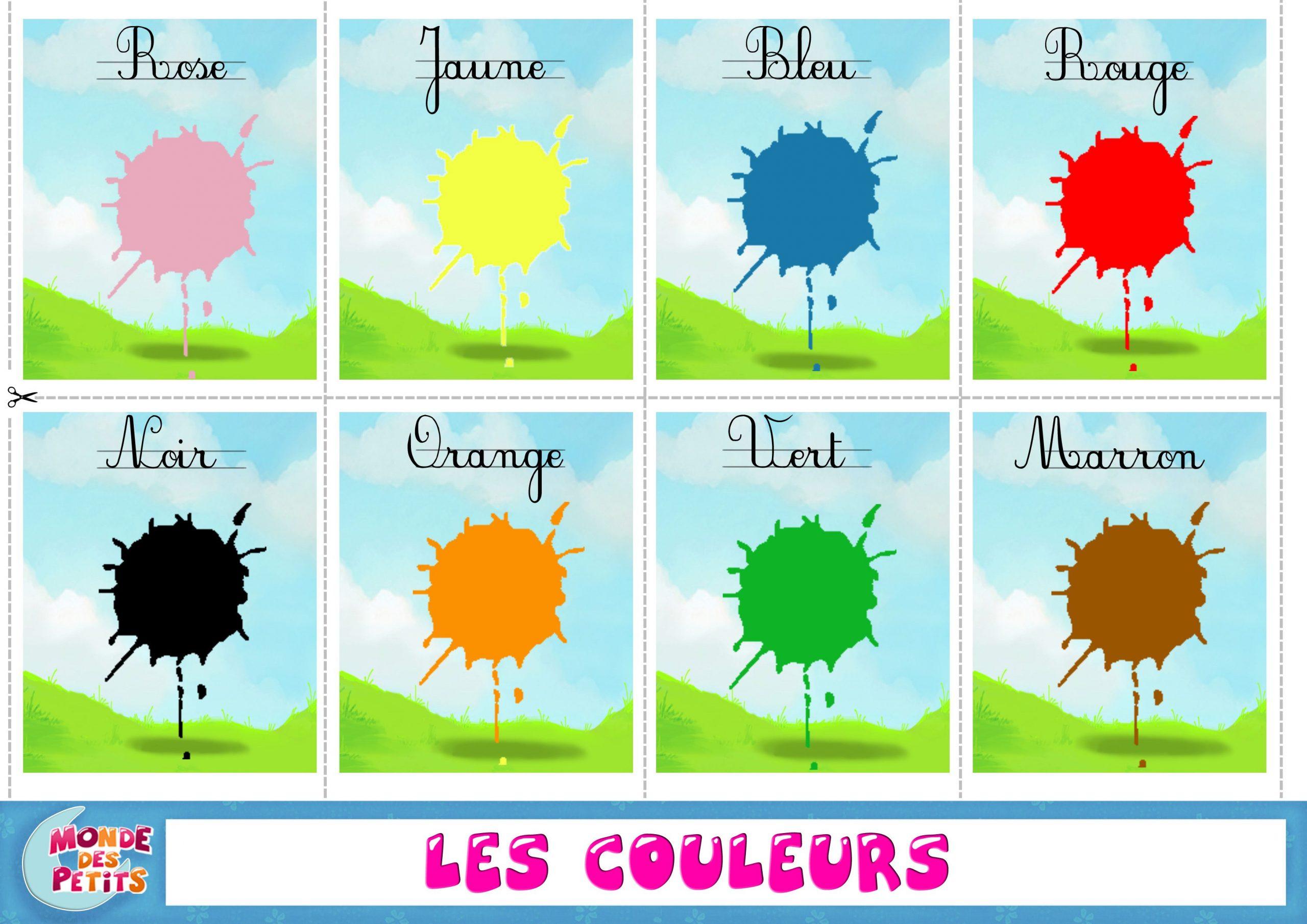 La Classe De Français: Les Couleurs   Apprendre Les Couleurs serapportantà Apprendre Les Couleur En Francais