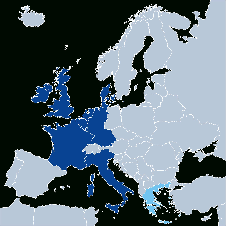 La Construction Européenne | Strasbourg Europe intérieur Pays Membre De L Europe