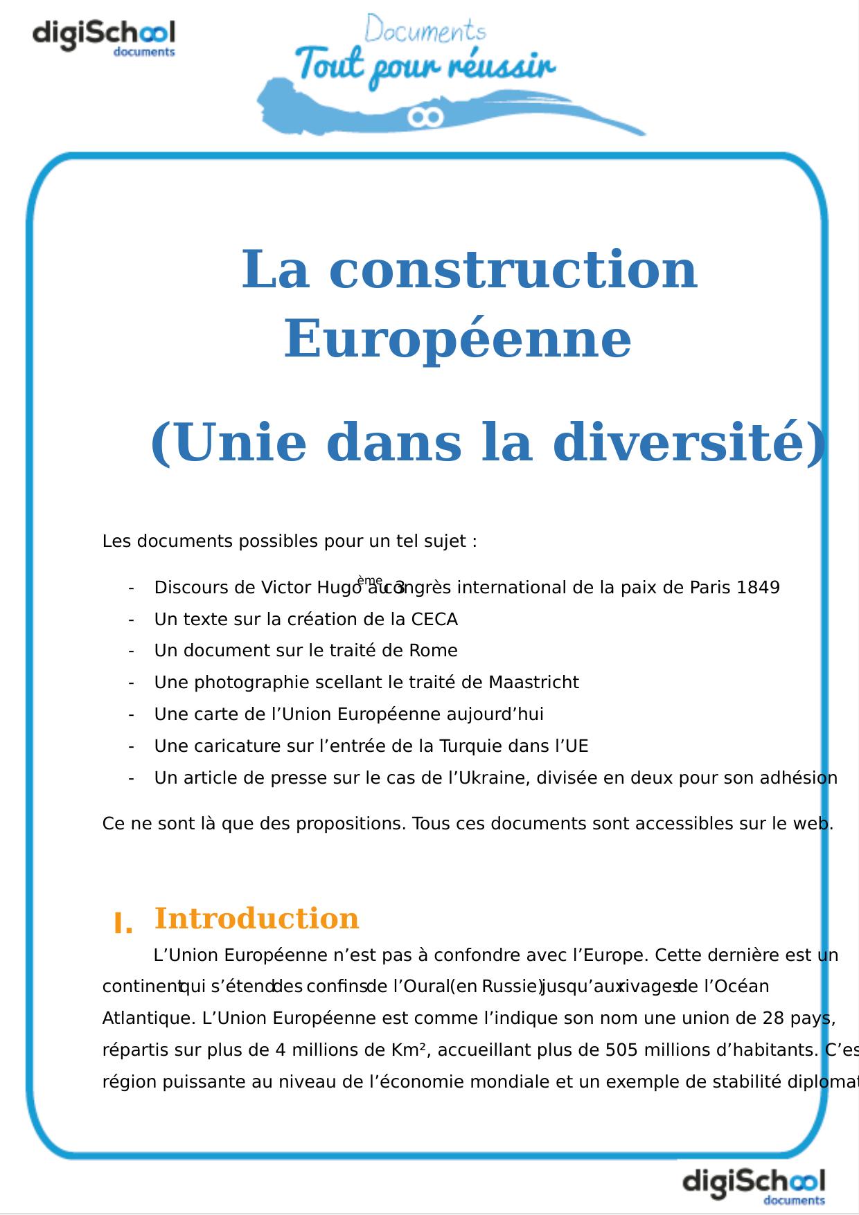La Construction Européenne (Unie Dans La Diversité) intérieur Nom Des Pays De L Union Européenne