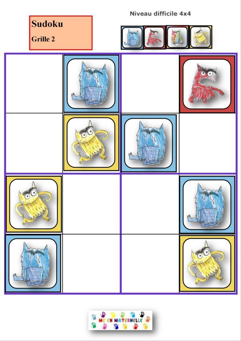 La Couleur Des Émotions : Sudoku (2 Niveaux) - Gevoelens concernant Sudoku Vierge