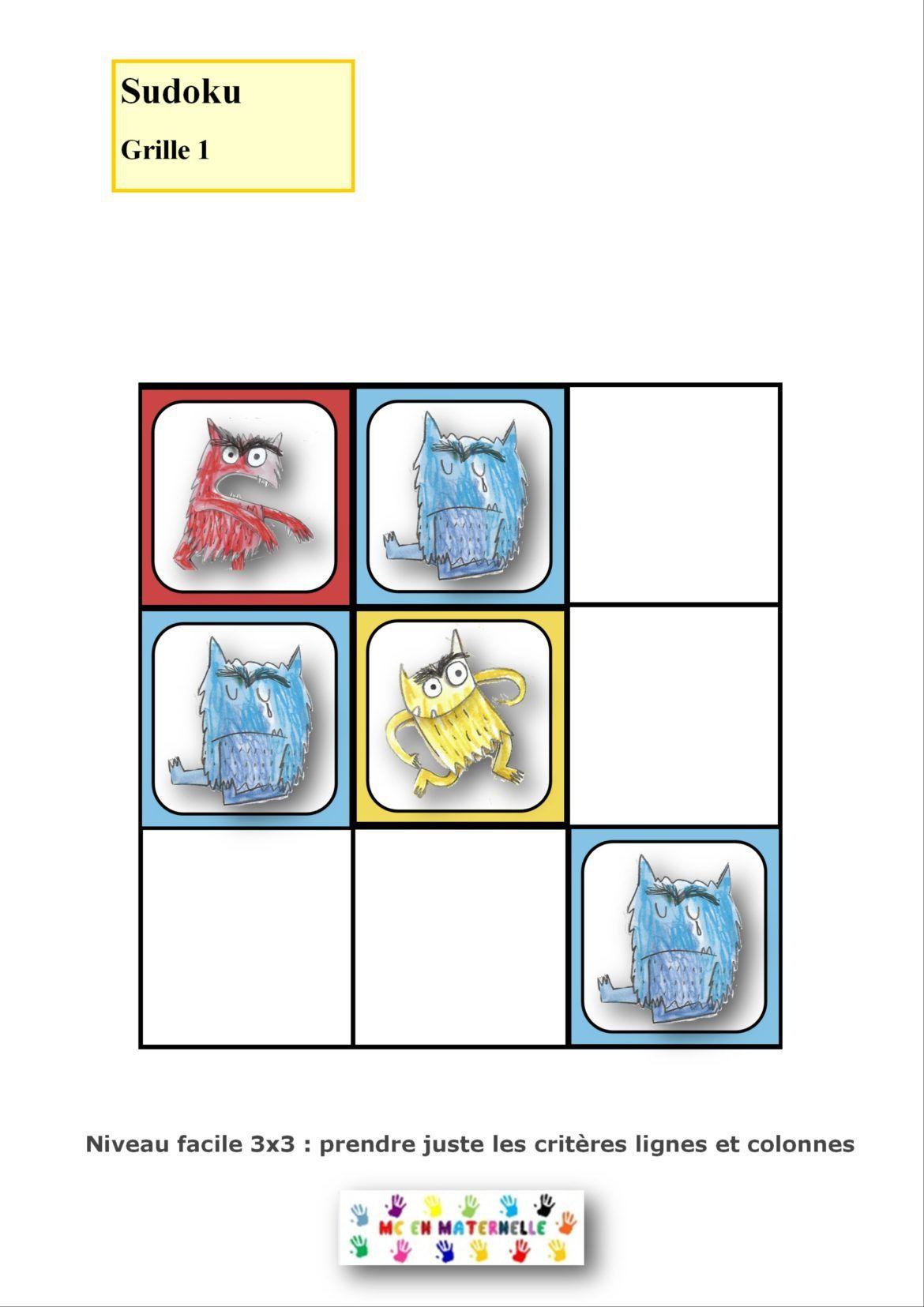 La Couleur Des Émotions : Sudoku (2 Niveaux) | La Couleur encequiconcerne Sudoku Vierge