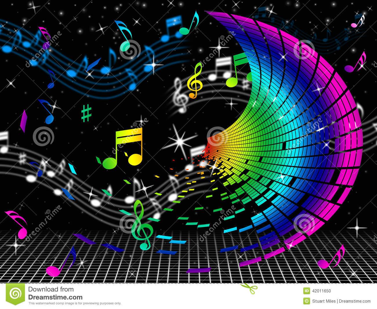 La Couleur Note La Musique Et L'audio De Feuille De Moyens pour Feuille De Couleur A Imprimer Gratuit