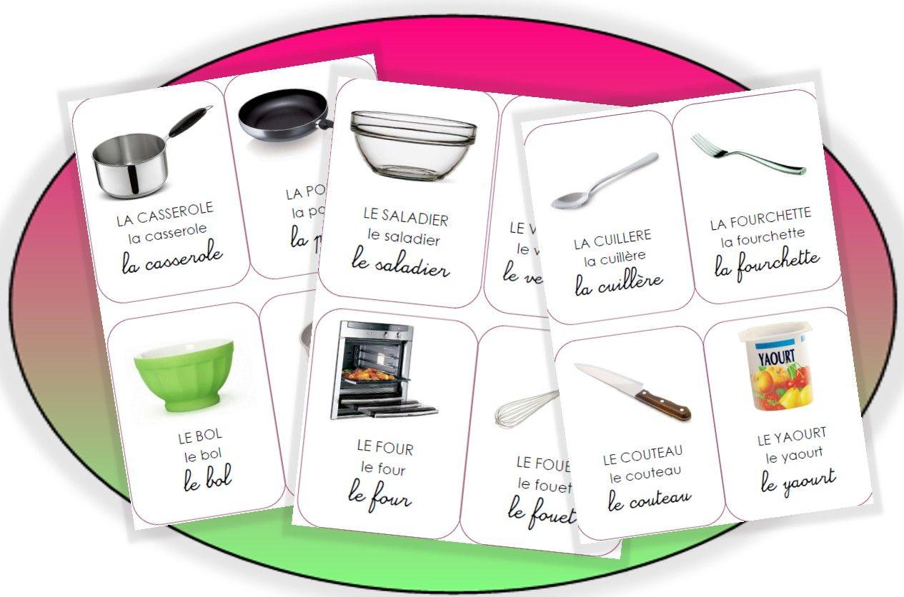 La Cuisine Et Autres Gourmandises | Vocabulaire Cuisine avec Imagiers Maternelle