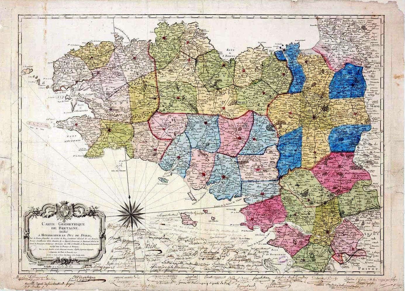 La Division De La Province De Bretagne En Cinq Départements serapportantà Carte Anciennes Provinces Françaises