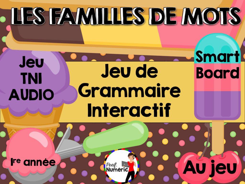 La Famille De Mots - Jeu De Grammaire Tni Interactif (Série 2) - Prof  Numéric à Jeux Interactifs Primaire