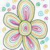 La Fleur En Graphisme | Graphisme Décoratif Gs, Cours D'art à Activités Graphiques Gs