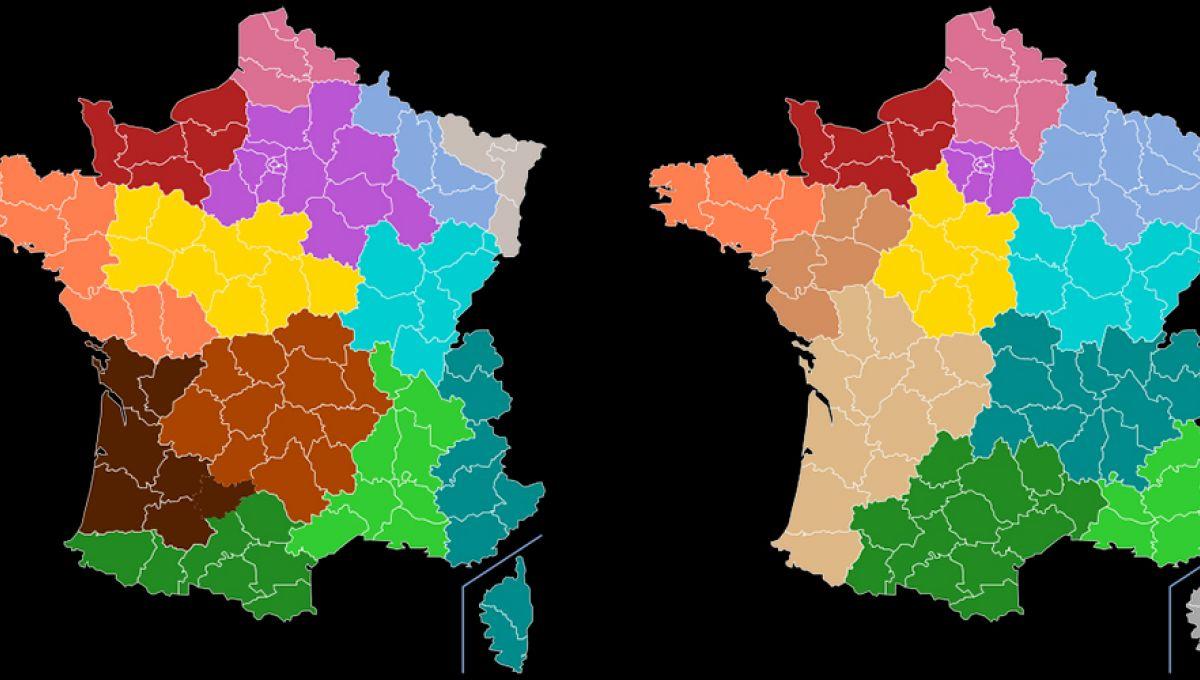 La France À 13 Régions Existait Déjà En 1891, Mais Ce N pour La Carte De France Et Ses Régions