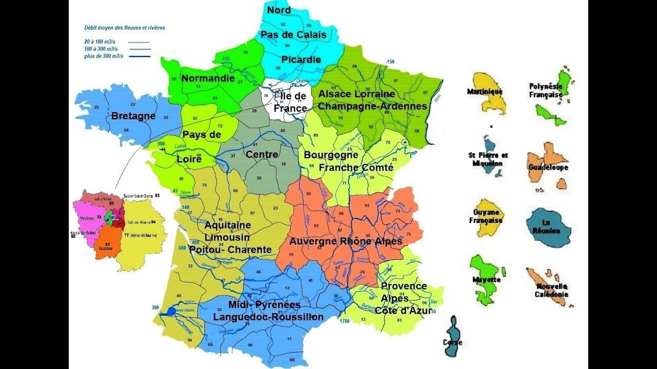 La France Est Découpée En Départements Et En Régions- Le Découpage  Administratif tout Le Découpage Administratif De La France