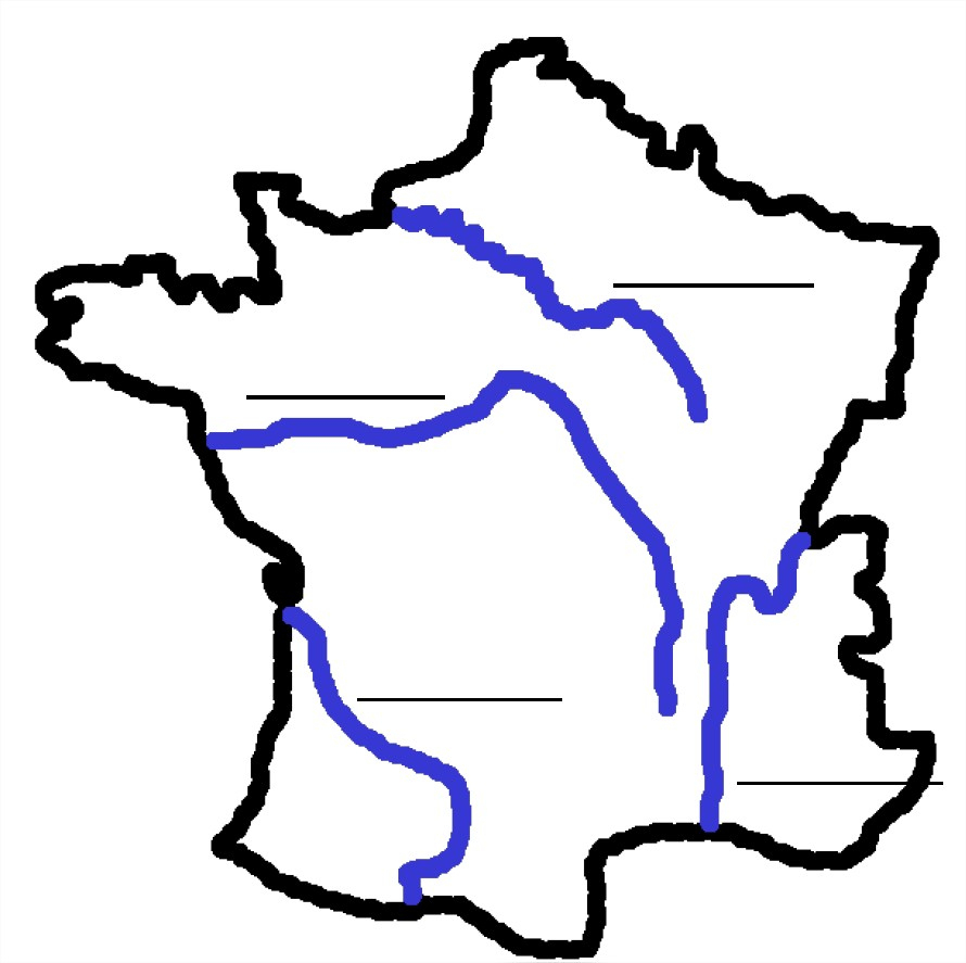 La France Et Les Fleuves, Fleuves De France À Apprendre encequiconcerne Carte De France Avec Les Fleuves