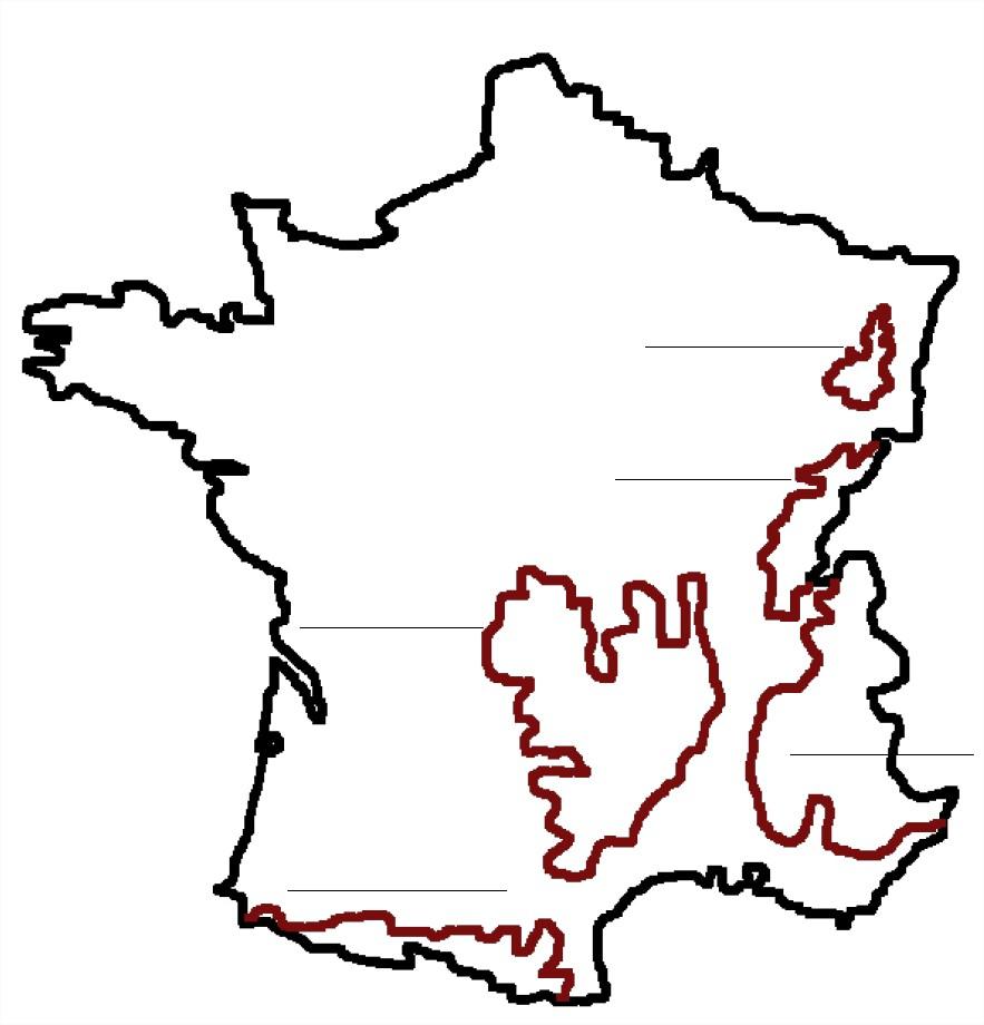 La France Et Ses Reliefs À Apprendre pour Apprendre Carte De France
