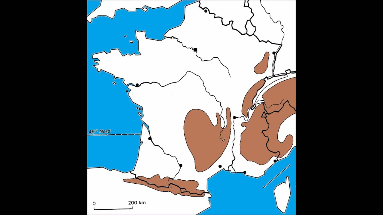 La Géographie De La France serapportantà Carte De France Ce1