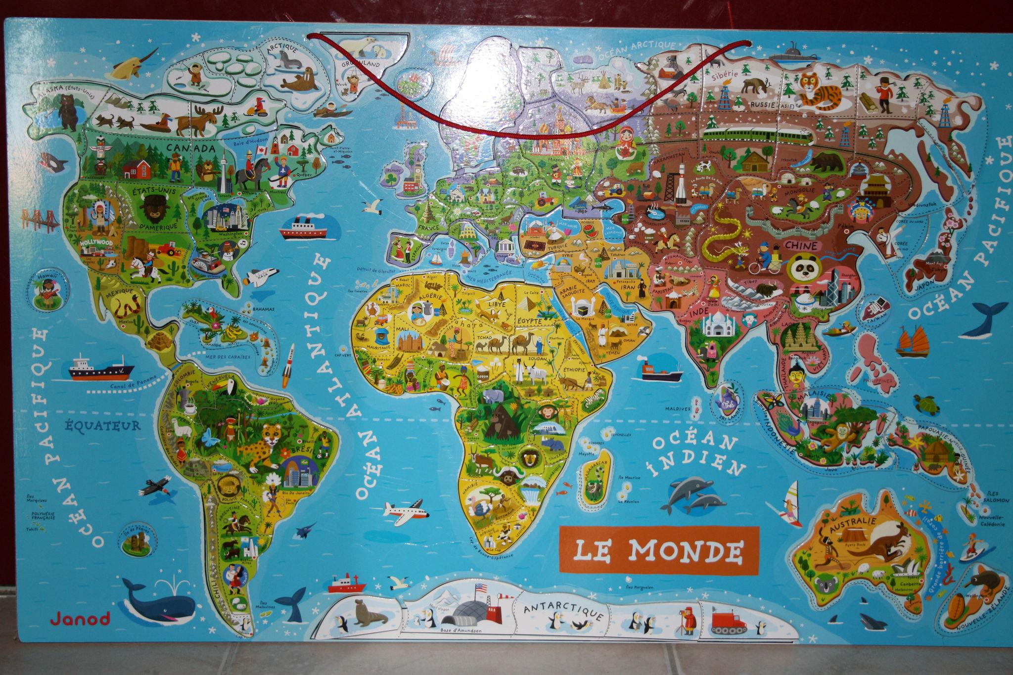 La Géographie : Nouveauté Cette Année - L'école À La Maison dedans Planisphère Enfant