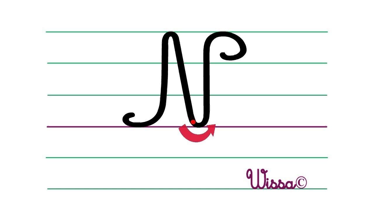 """La Lettre """"n"""" En Majuscule Pour L'écriture. destiné Ecriture En Majuscule"""