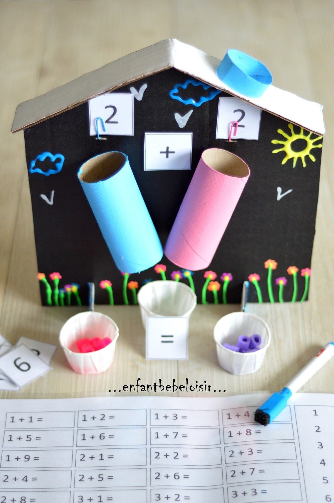 La Maison Des Additions - Maternelle Maths | Anaokulu serapportantà Addition Maternelle