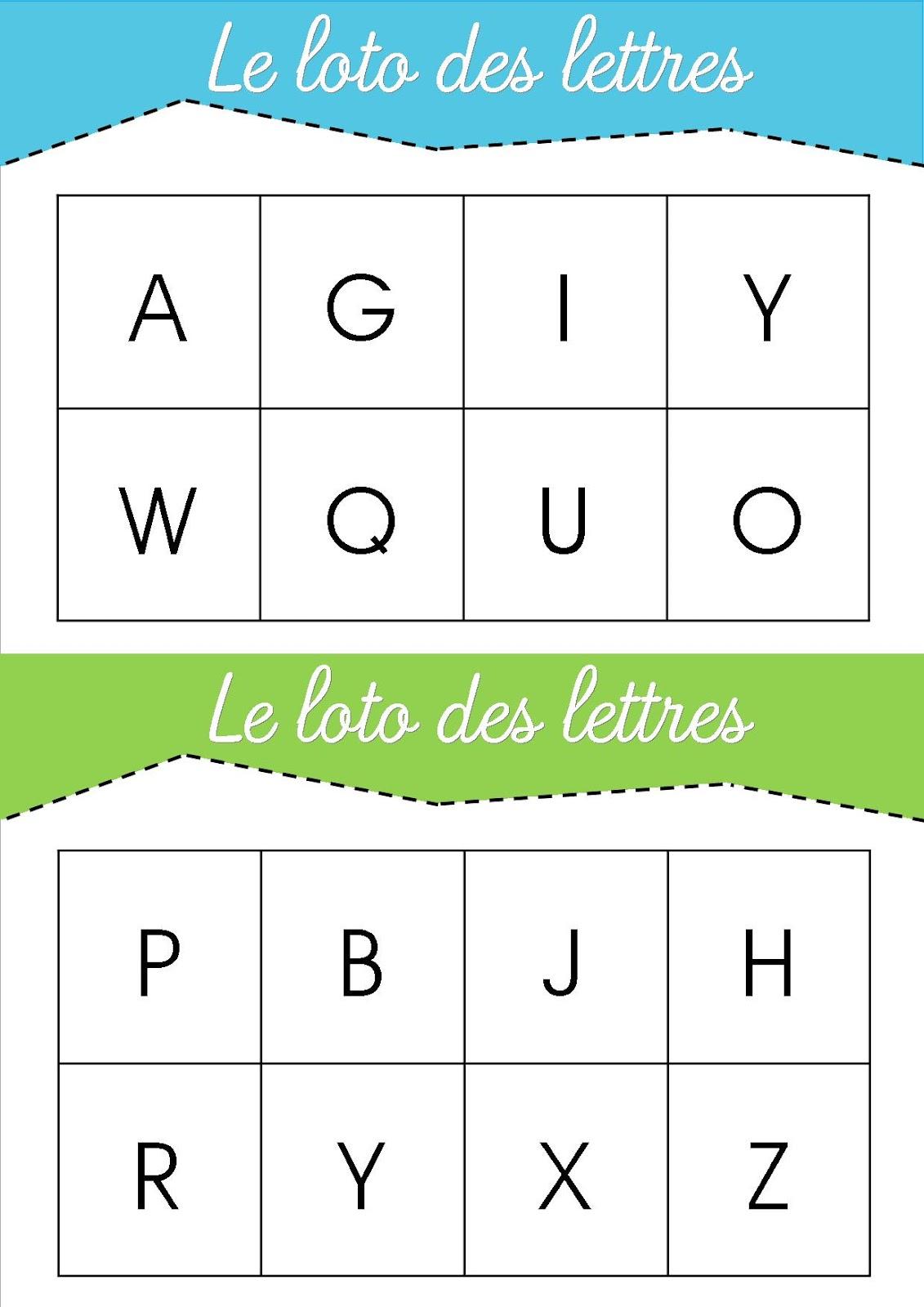 La Maternelle De Laurène: Le Loto Des Lettres à Apprendre Les Lettres Maternelle