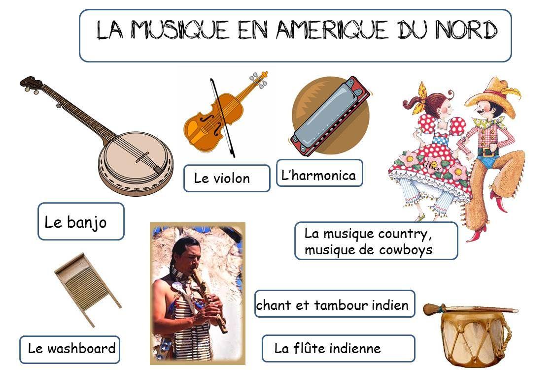 La Musique En Amerique | 5 Continents | Music Classroom à Activité Musicale Maternelle