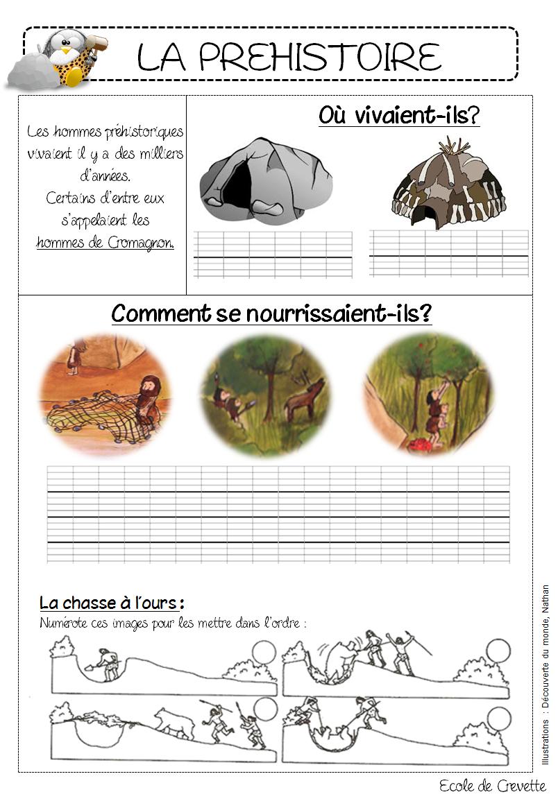 La Préhistoire - L Ecole De Crevette destiné Jeux De Préhistoire