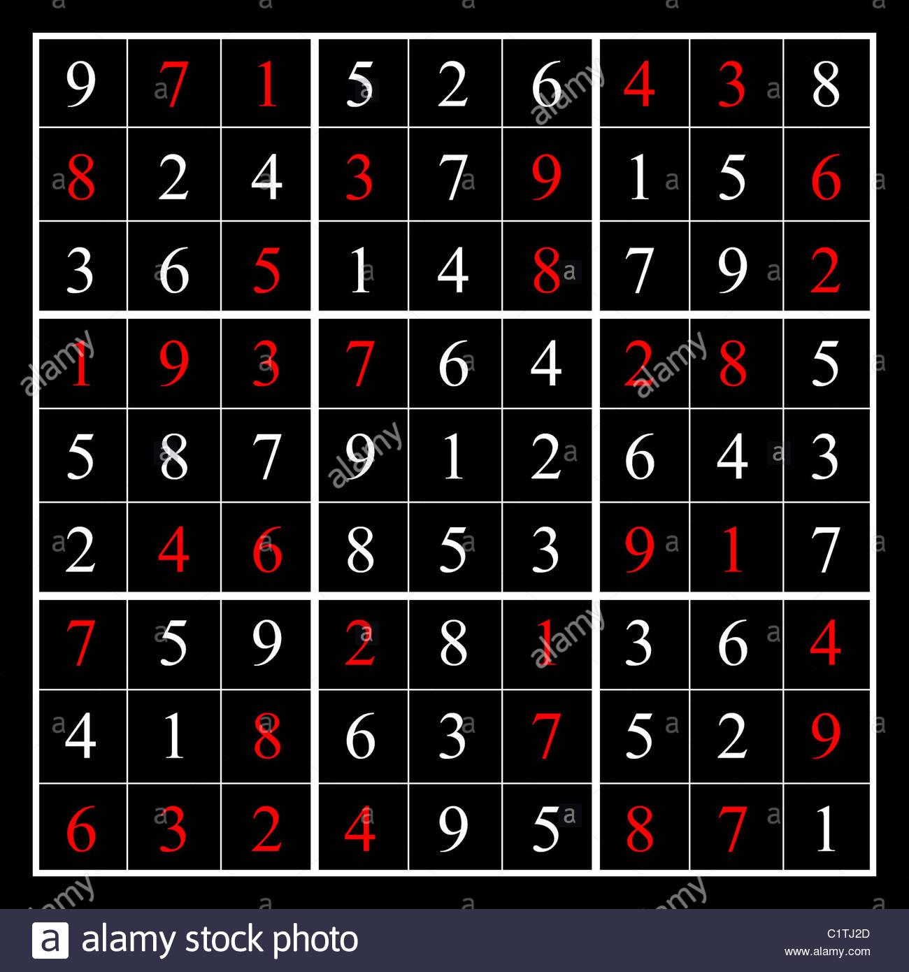 La Solution D'un Puzzle De Sudoku Facile, Illustré Avec Des tout Sudoku Facile Avec Solution