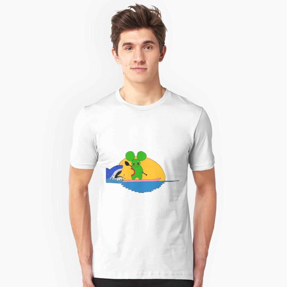 La Souris Verte Et Le Requin | Slim Fit T-Shirt à Requin Souris