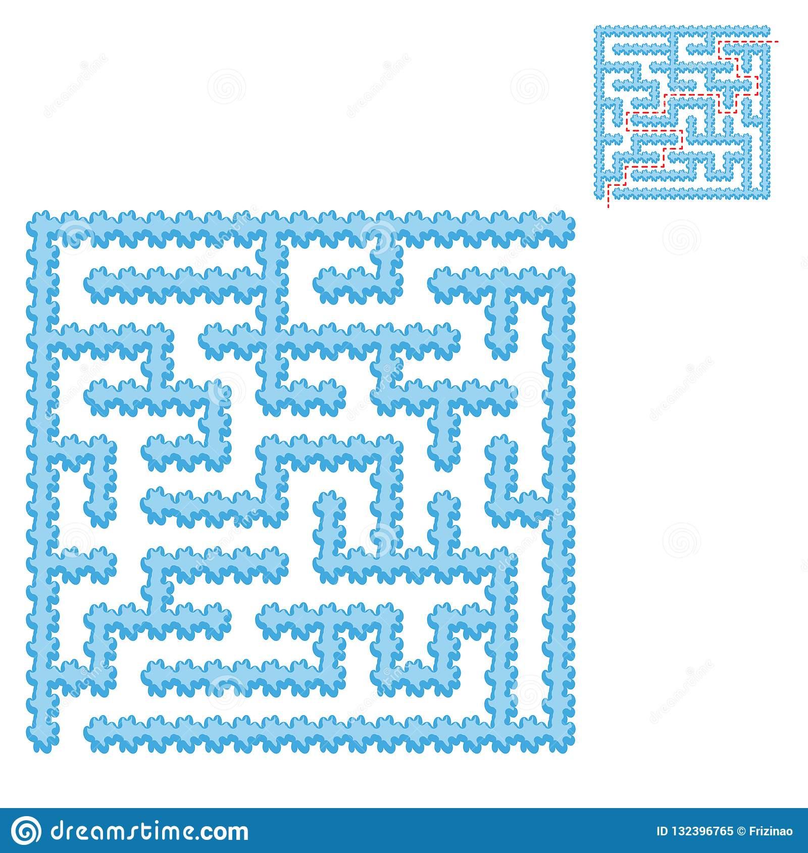 Labyrinthe Carré Bleu Glacial Jeu Pour Des Gosses Puzzle encequiconcerne Puzzle En Ligne Facile