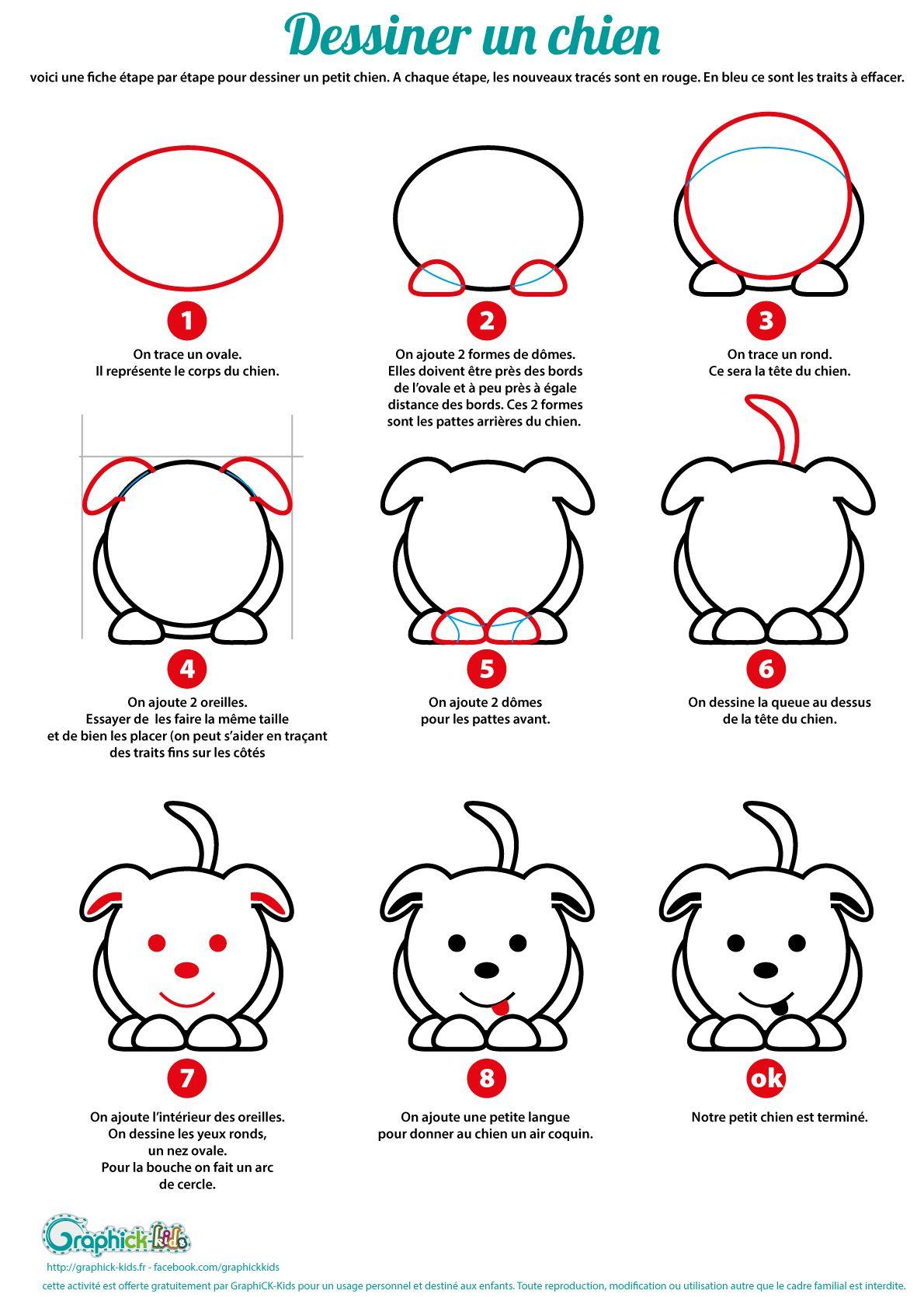 L'activité Du Mercredi : Apprendre À Dessiner Un Chien tout Apprendre A Dessiner Des Animaux Facilement Et Gratuitement