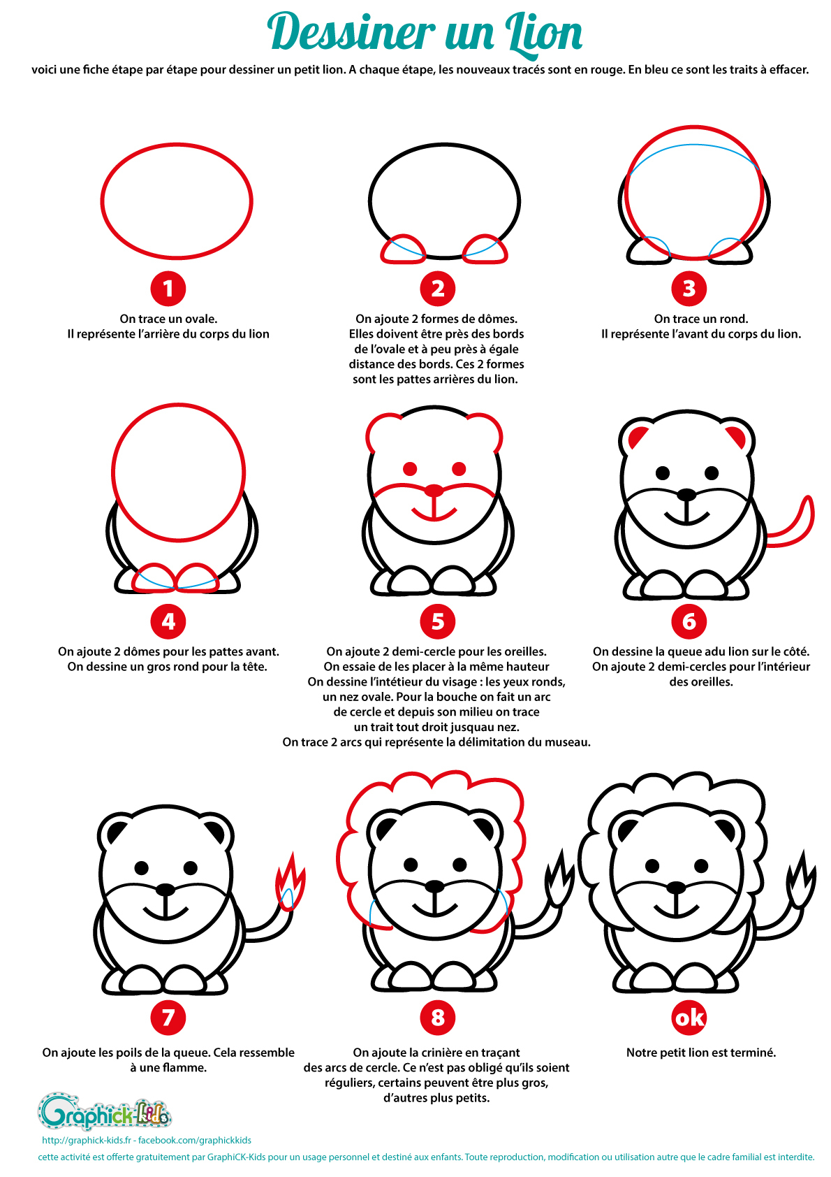 L'activité Du Mercredi : Apprendre À Dessiner Un Lion serapportantà Apprendre À Dessiner Halloween