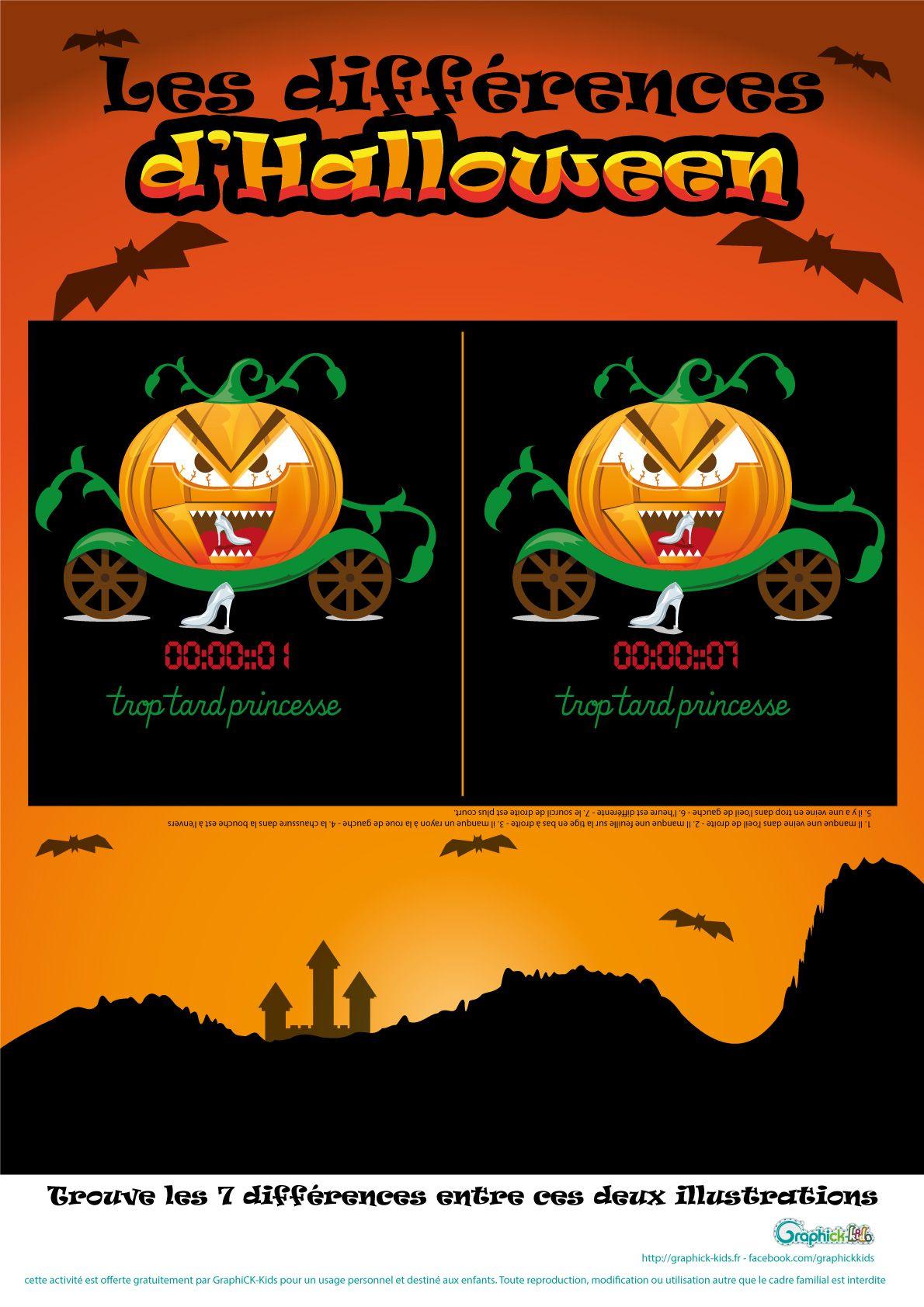 L'activité Du Mercredi : Jeu Des Différences D'halloween tout Jeux D Halloween Gratuit