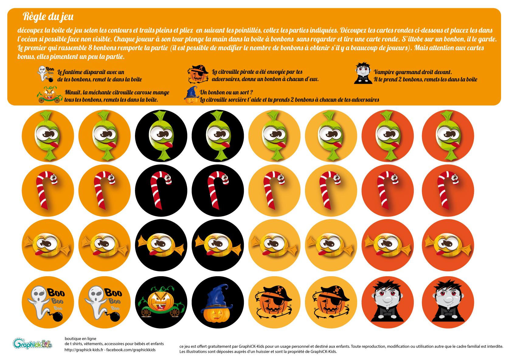L'activité Du Mercredi : La Boîte À Bonbons D'halloween tout Jeux D Halloween Gratuit