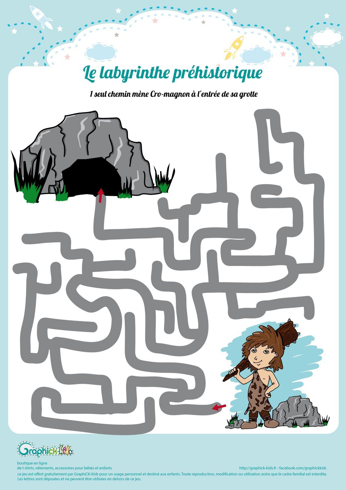 L'activité Du Mercredi : Le Labyrinthe Préhistorique | Jeux intérieur Jeux De Préhistoire