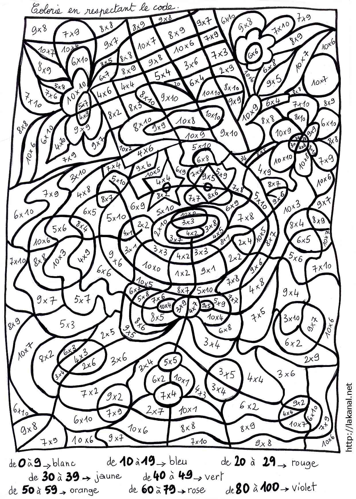 Lakanal : Coloriages Magiques En Mathématiques Pour Les à Coloriage Codé Ce1