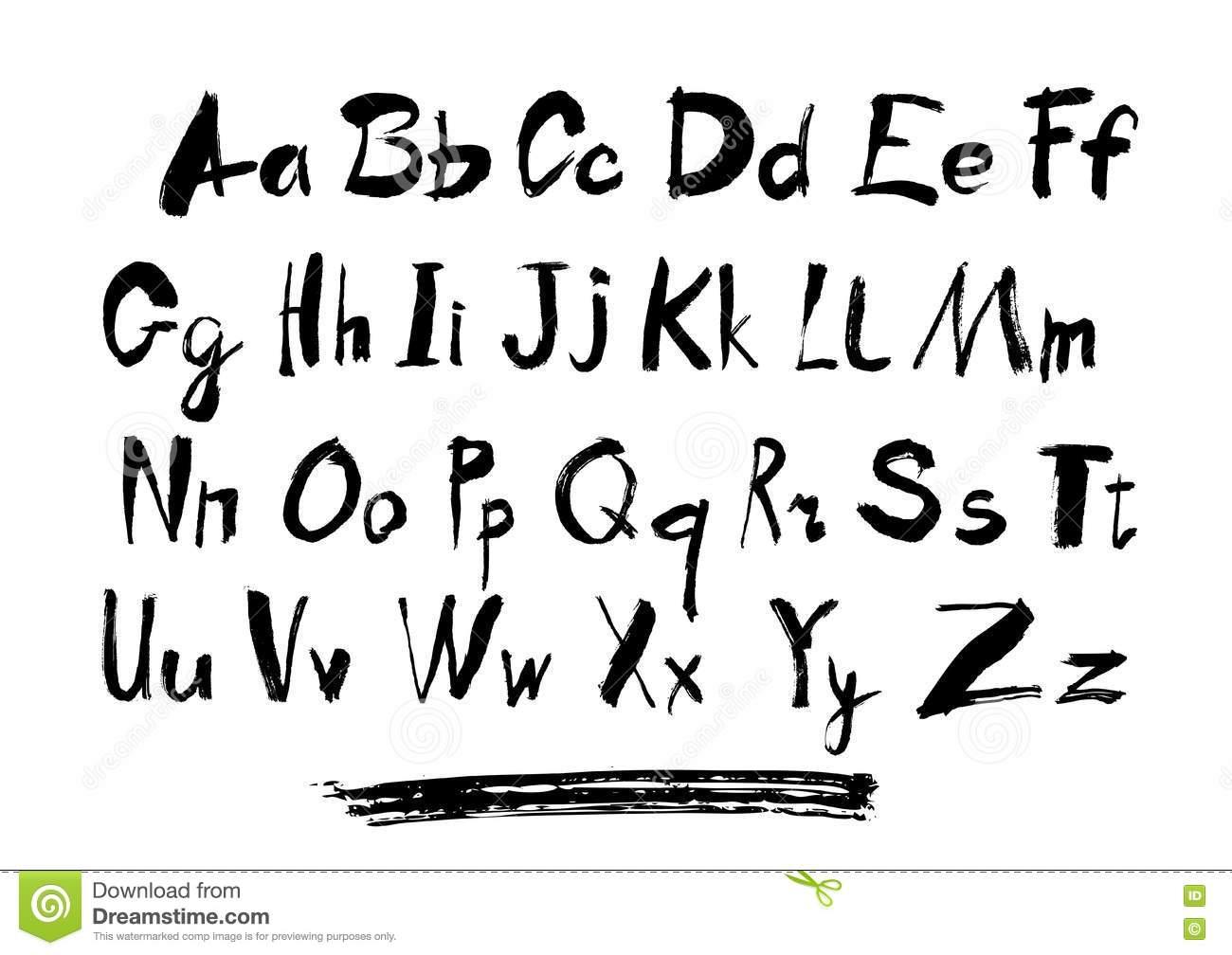 L'alphabet Marque Avec Des Lettres La Lettre Minuscule, Le pour L Alphabet Minuscule
