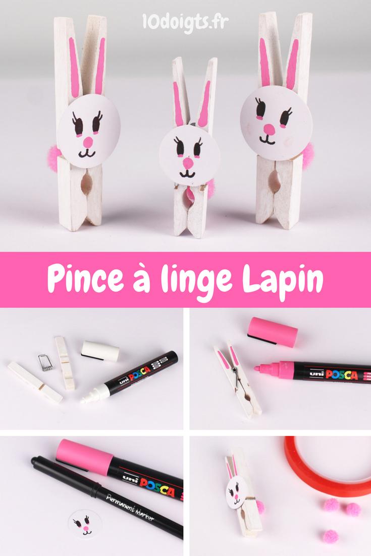 Lapin Pince À Linge - Pâques | Bricolage Facile À Faire destiné Activité Simple A Faire