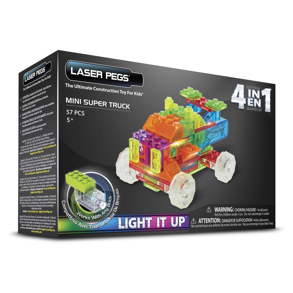 Laser Pegs 4In1 Mini Super Truck Mps600B à Petit Jeux 3 5 Ans