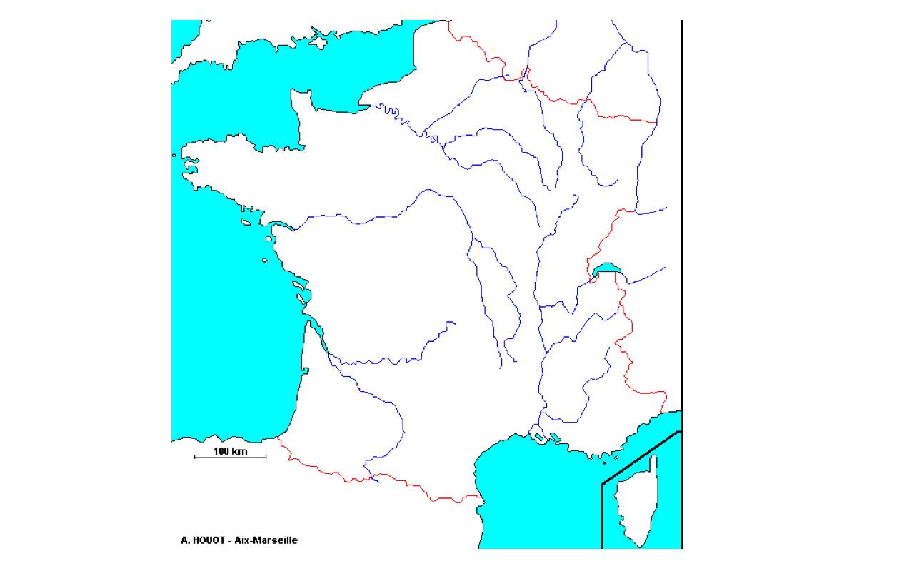 Le Blog Des Cm1 » Blog Archive » Pour Apprendre Les Fleuves destiné Apprendre Carte De France