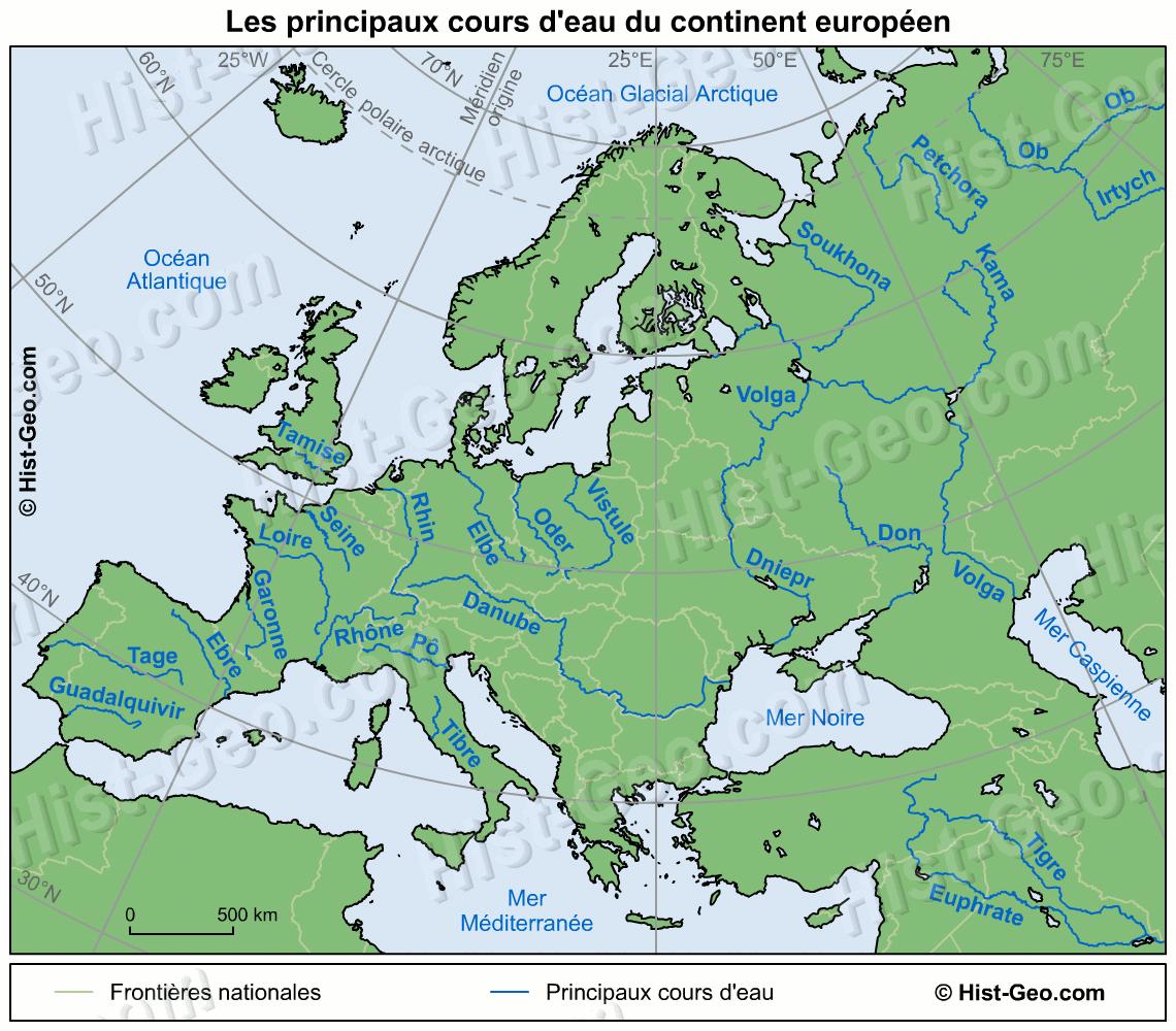 Le Blog Des Cm1 » Complément De Leçon à Carte Fleuve Europe Vierge