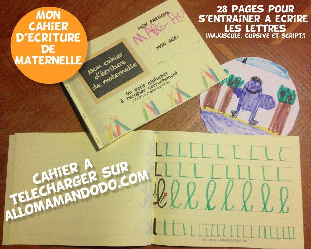 Le Cahier D'écriture De Maternelle À Télécharger ( Gratuit encequiconcerne Cahier De Vacances Adultes Gratuit