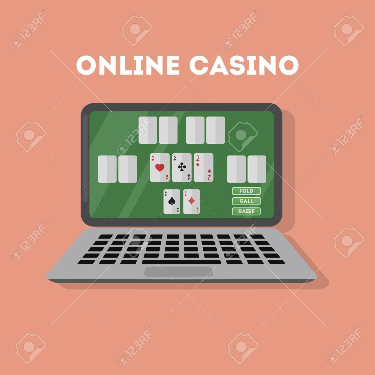 Le Casino En Ligne Dans L'ordinateur Portable. Dispositif Avec Jeu De Jeu.  Gaming Dépendance. concernant Jeux Sur Ordinateur En Ligne