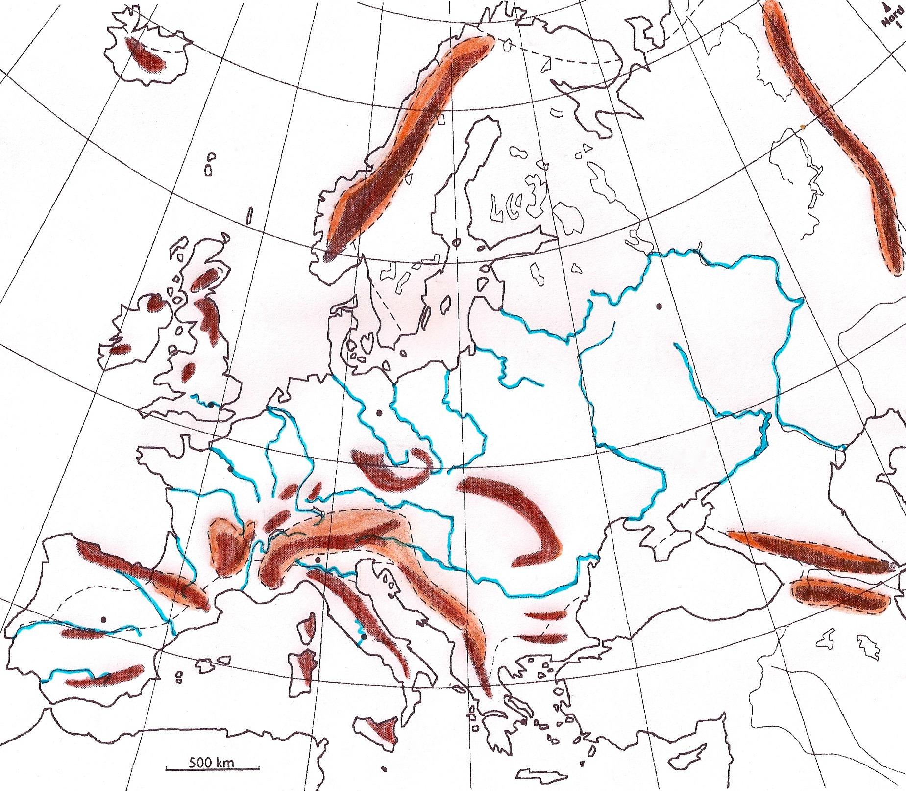 Le Continent Européen, Ses Divisions Et Ses Limites - Profs dedans Carte De L Europe En Relief